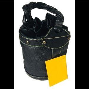 FENDI Palazzo Drawstring Bucket Handbag
